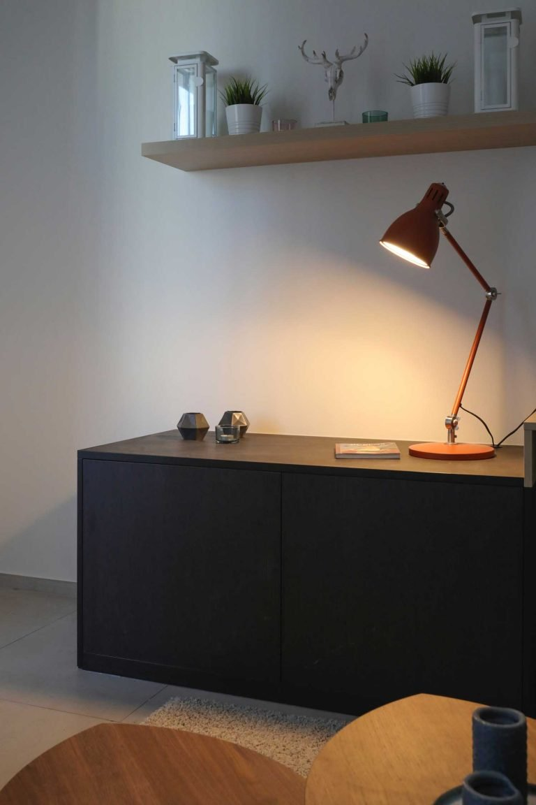 Assembled cabinet and lighting